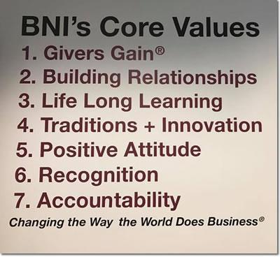 BNI Northwest Core Values